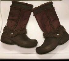 CROCS Women's 10 Faux Shearling Winter Boots Brown/Brown