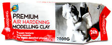 2KG White Premium Air Hardening Modeling Clay AIR DRY CLAY Craft Art Supply