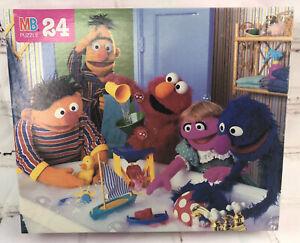 Vintage 1995 Milton Bradley Sesame Street Puzzle 24 Piece Sealed in Box NIB Bath