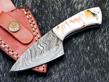 """NEW CUSTOM HAND FORGED DAMASCUS 5.50"""" SKINNING KNIFE - RESIN HANDLE - WD-9075"""
