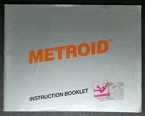 """NES MANUAL ONLY  :     TITLE   """" METROID  """""""