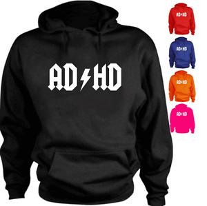 AD HD logo parody Funny New Present Gift Hoodie