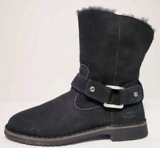 Ugg Australia Women's Cedric Black Sheepskin Winter Boots! Size 8.5