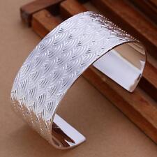 beautiful Fashion 925 silver Women pretty big Cloud cuff bangle Bracelet B80