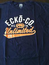 New Ecko Unltd Big and Tall Logo T Shirt 4XB 4XL 4X Navy Blue