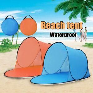 Quick Open Beach Tent Ultra-light Waterproof Outdoor Camping Tents Pop Up Single