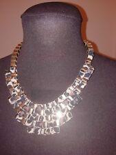 Vtg 90s Next Egyptian Style Deep Box Chain Animal Print Necklace. Stunning....