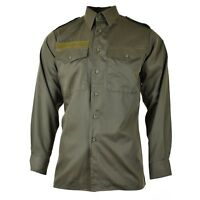 Genuine Austrian army shirt M65 O.D Military combat long sleeve Olive BDU NEW