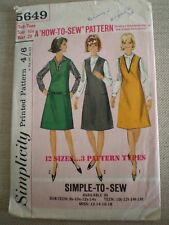"""1960's VINTAGE SIMPLICITY SUB-TEEN PINAFORE DRESS/SLIP - SIZE 10s - BUST 29""""."""