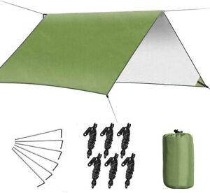 Waterproof Tent Tarp Rain Sun Shade Hammock Shelter Camping Picnic Mat 3*3M