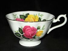 Royal Albert Teacup Bone China England June Delight RARE Pink Yellow Flower Cup