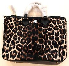 Tory Burch ROBINSON Snow Leopard Calf Hair Square Tote Hand Bag