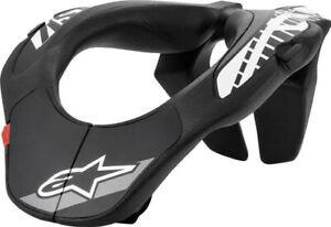 ALPINESTARS MX Neck Support Brace Body Armor Protector Black/White Youth OS