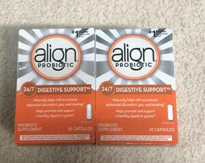 Lot of 2 Align Probiotic 24/7 Digestive Support 56 Capsules Total 112  Exp 2023