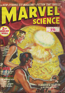 Marvel Science Stories British 50s pulp magazine Thorpe and Porter John Wyndham