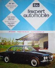 Revue technique ALFA ROMEO 1750 berline GT Veloce GT spider RTA EXPERT N°61 1970