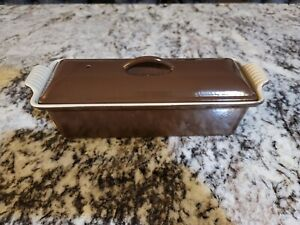 Le Creuset Brown Cast Iron Meat Loaf / Pate Terrine