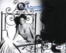 CLAUDIA CARDINALE SIGNED AUTOGRAPHED 8x10 PHOTO VERY SEXY IN BED PSA/DNA