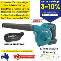 Makita 18V Cordless Blower Vacuum Tool Jobsite Garden Leaf Garage Shed Dust Bag