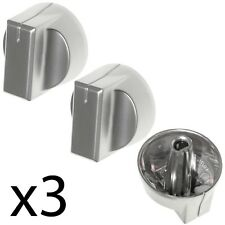 STOVES SN60FP HAP0050 SN70FP HAP0030 Oven Hob Switch Knob Nickel / Silver x 3