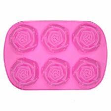 6 x Fiore Rosa Torta al Cioccolato Ghiaccio Vassoio Stampo Stampo fatto in casa le attività di cottura
