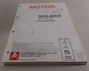 Manual de Taller Citroen XM / Xantia / Evasion Motor Diesel Xud 11A / ATE / Bte
