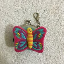 Butterfly Smiggle Coin Purse Keyring Key Chain