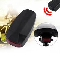 Smart Bicycle USB Rear Tail Light Alarm Warning Bike Remote Lock Anti-Theft Lamp