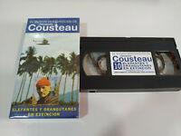 Jacques Cousteau - Elefanti Y Orangutanes IN Estinzione - VHS Nastro Spagnolo