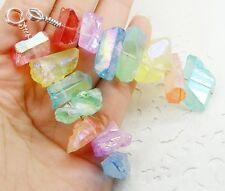 1pc CANDY rainbow titanium druzy quartz crystal HEALING BEADS Chakra pendant