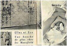 E- Coupure de presse Clipping 1959 (4 pages) Jayne Mansfield