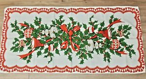#2 Vintage Christmas Table Runner EXCELLENT 39 x 19
