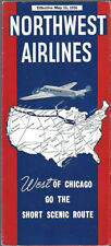 Northwest Airlines system timetable 5/15/36 electra pic [8121]  Buy 4+ save 25%
