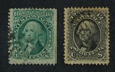 CKStamps: US Stamps Collection Scott#68 69 Used #68 Crease