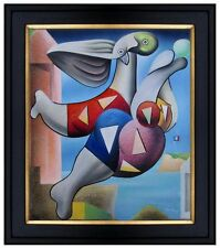 Framed Quality Hand Painted Oil Painting Animals Abstract 20x24in