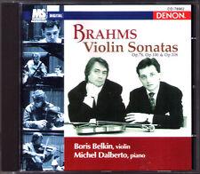 Boris Belkin & Michel Dalberto: Brahms Violin Sonata No. 1 2 3 DENON Giappone CD