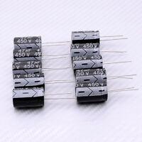 10x Black Electrolytic Capacitor 450V 47UF 16mm 25mm 105C Aluminum Electrolysis