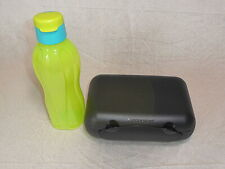 TUPPERWARE Brotbox Bento To Go schwarz limette Trennung A136 mit Eco Easy 750ml