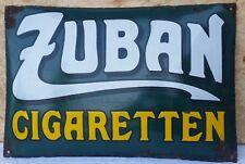 Altes Emailschild Zuban Zigaretten München Reklame Werbung nicht restauriert