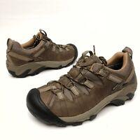 @@ KEEN Targhee II Men's Hiking Waterproof Shoes Sz 8 Eu40.5 Leather Brown EUC