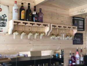 Gin Glass Shelf, Kitchen Shelf, Bar Shelf, Drinks Shelf, Alcohol Shelf