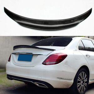 Carbon Fiber Rear Spoiler Wing For Mercedes-Benz W205 4DR Sedan C-Class 15-20 19
