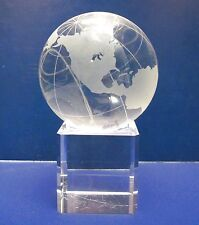 Shannon Crystal DESIGNS OF IRELAND Globe of the World on Stand