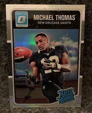 2016 Donruss Optic Rated Rookie Michael Thomas Holo Silver Prizm #186 RC Saints
