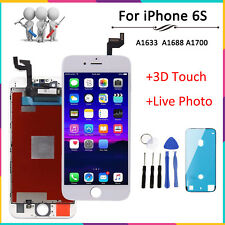 For iPhone 6s LCD Touch Screen White Replacement Assembly +3D Touch + OEM IC+UK