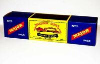 Matchbox Lesney M3 ANTAR TANK TRANSPORTER WITH CENTURION empty Repro B style Box