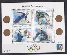 Norvegia 1991 Bf 16 giochi olimpici di Lillehammer 3 serie  Mnh
