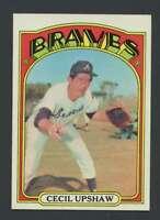 1972 Topps #74 Cecil Upshaw NM/NM+ Braves 27746