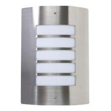 Modern Stainless Steel Outside Garden Flush Metal Bulkhead Wall Lights Lantern