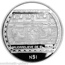 MEXICO 1 N.PESO 1993 Silver PF  BAJO RELIEVE DE EL TAJIN - Precolumbian